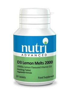 Nutri D3 Lemon Melts 2000